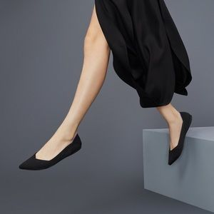 ROTHY'S The Point Black Solid Flats